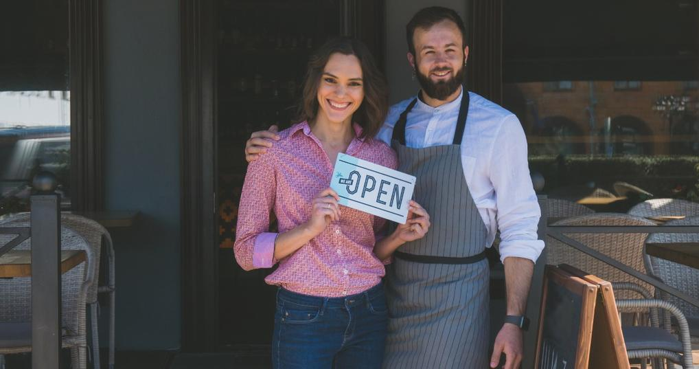Man and Woman enjoying X chase Ink Business benefits