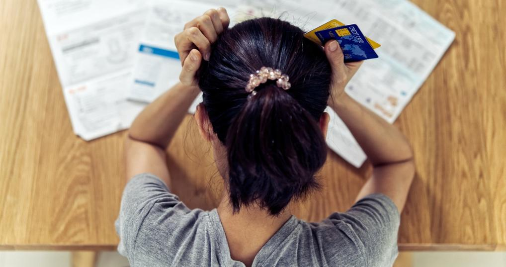 Young woman experiencing financial stress