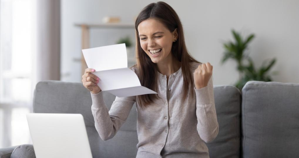 Woman Using Debt Avalanche Method to Pay Down Debt