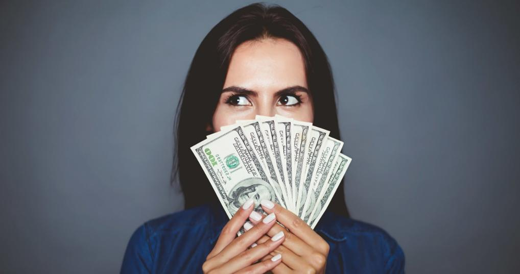 Young Woman making money quickly