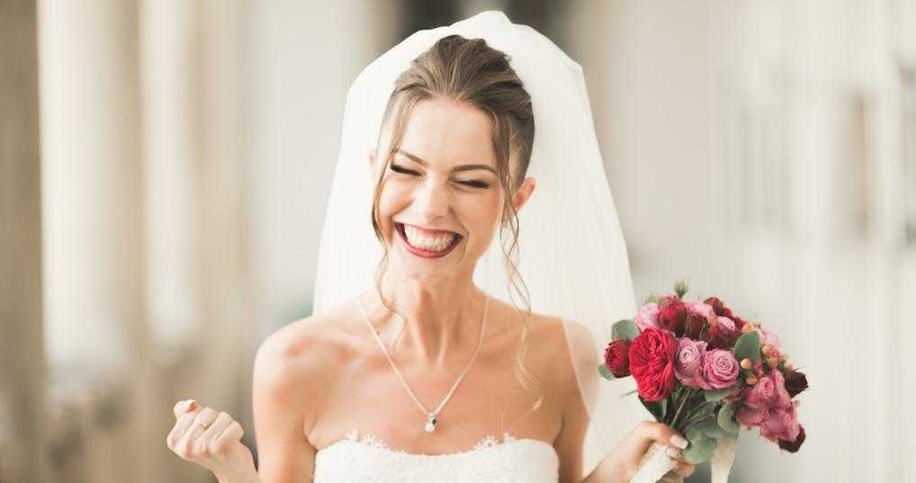 Woman Happy About Saving Money for Her Wedding