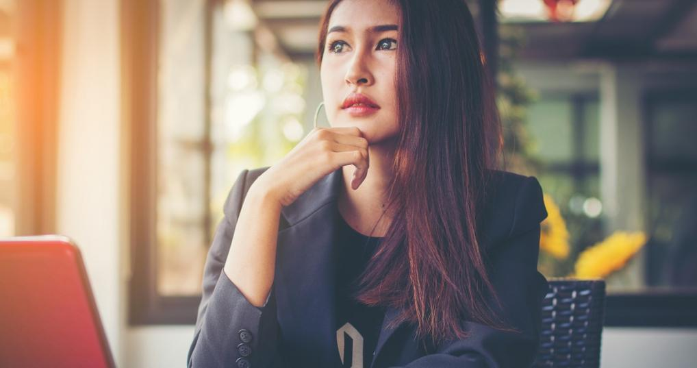 Woman Thinking About Credit Repair