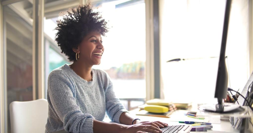 Woman Enjoying Advantages of a Business Credit Card