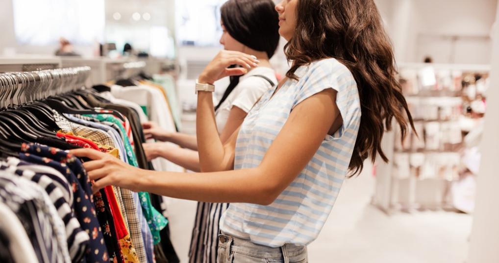 Two women shopping at T.J. Maxx