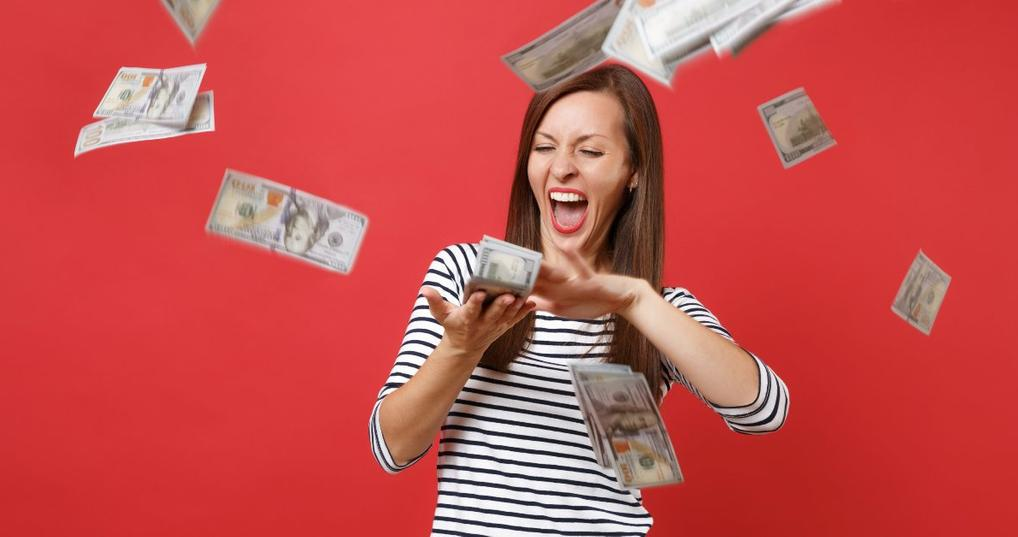Woman Saving Money Shopping Online