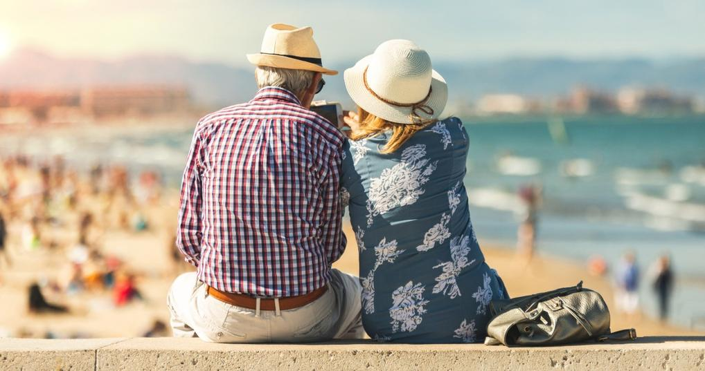 retired couple on vacation