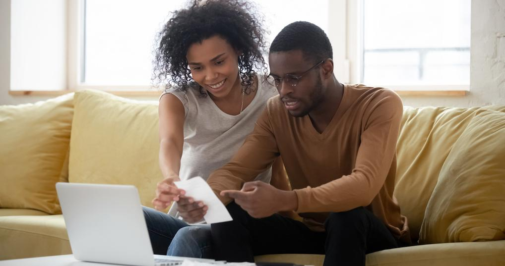 Couple building a budget