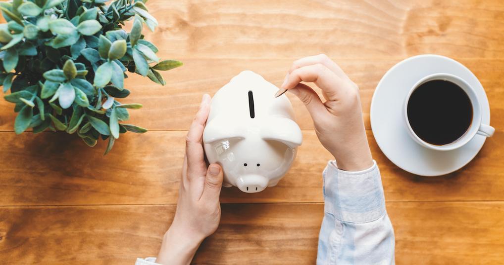 Woman doing money saving challenge