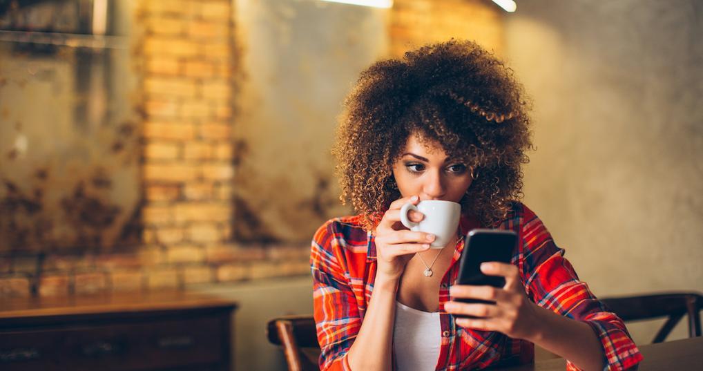 Woman checking investment portfolio