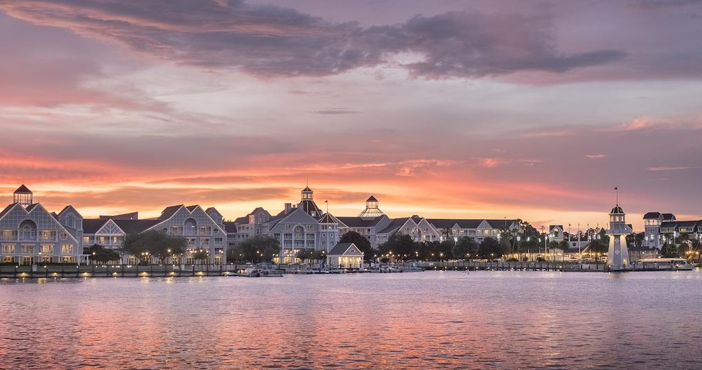 Disney lighthouse and boardwalk