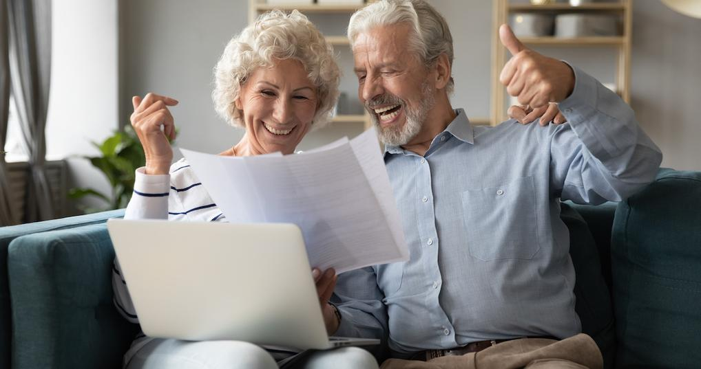 Couple happy about debt payoff