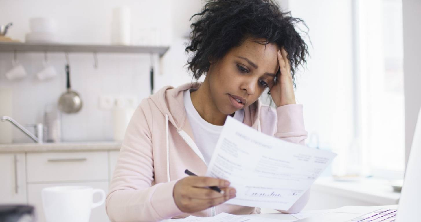 Young woman who lost her job and cannot pay bills