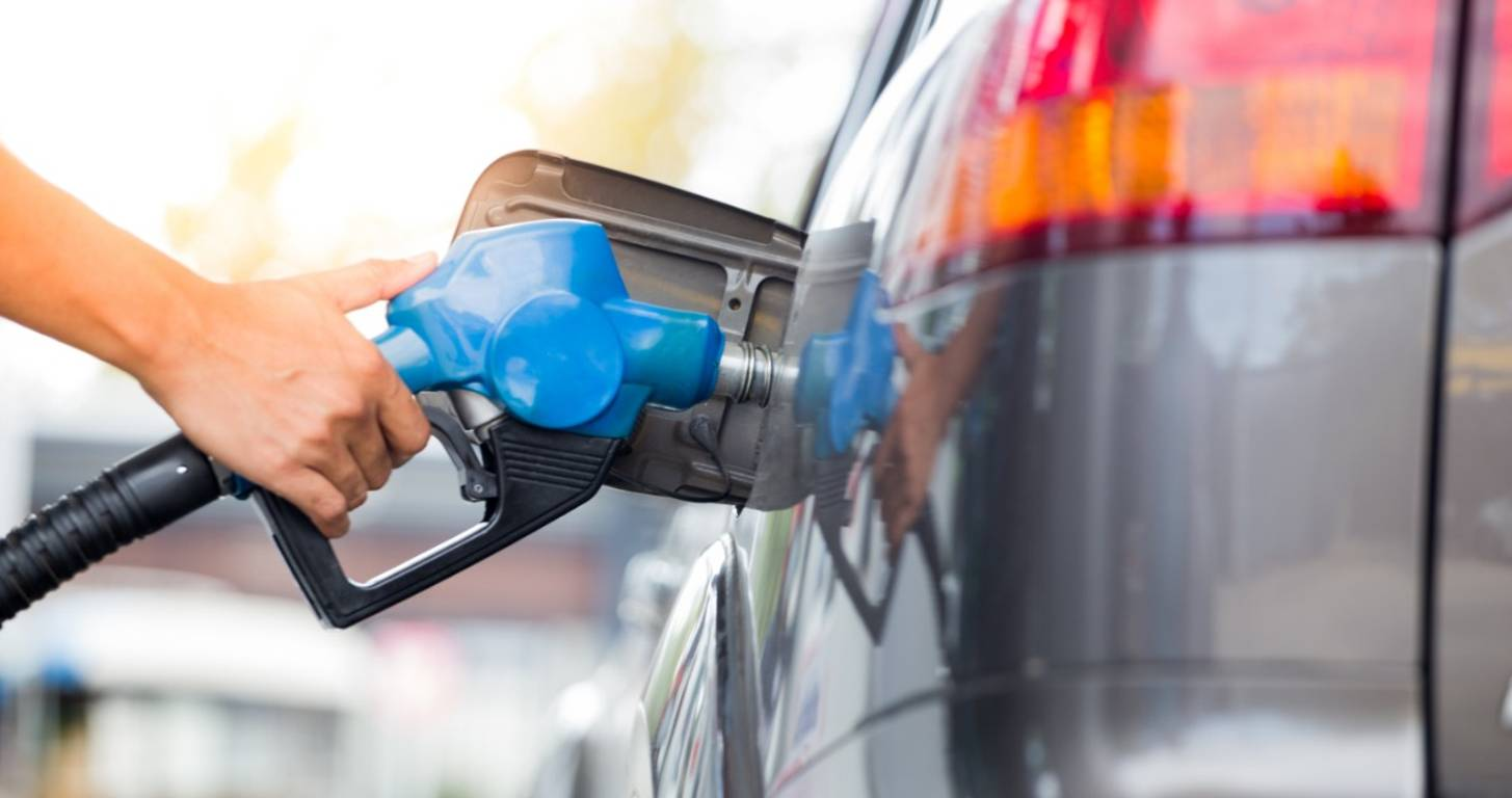 Man filling up the gas tank