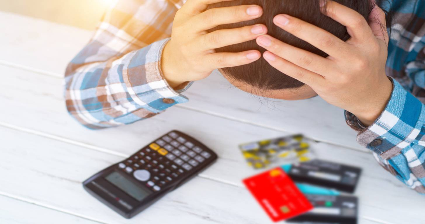 stressed about credit card mistakes