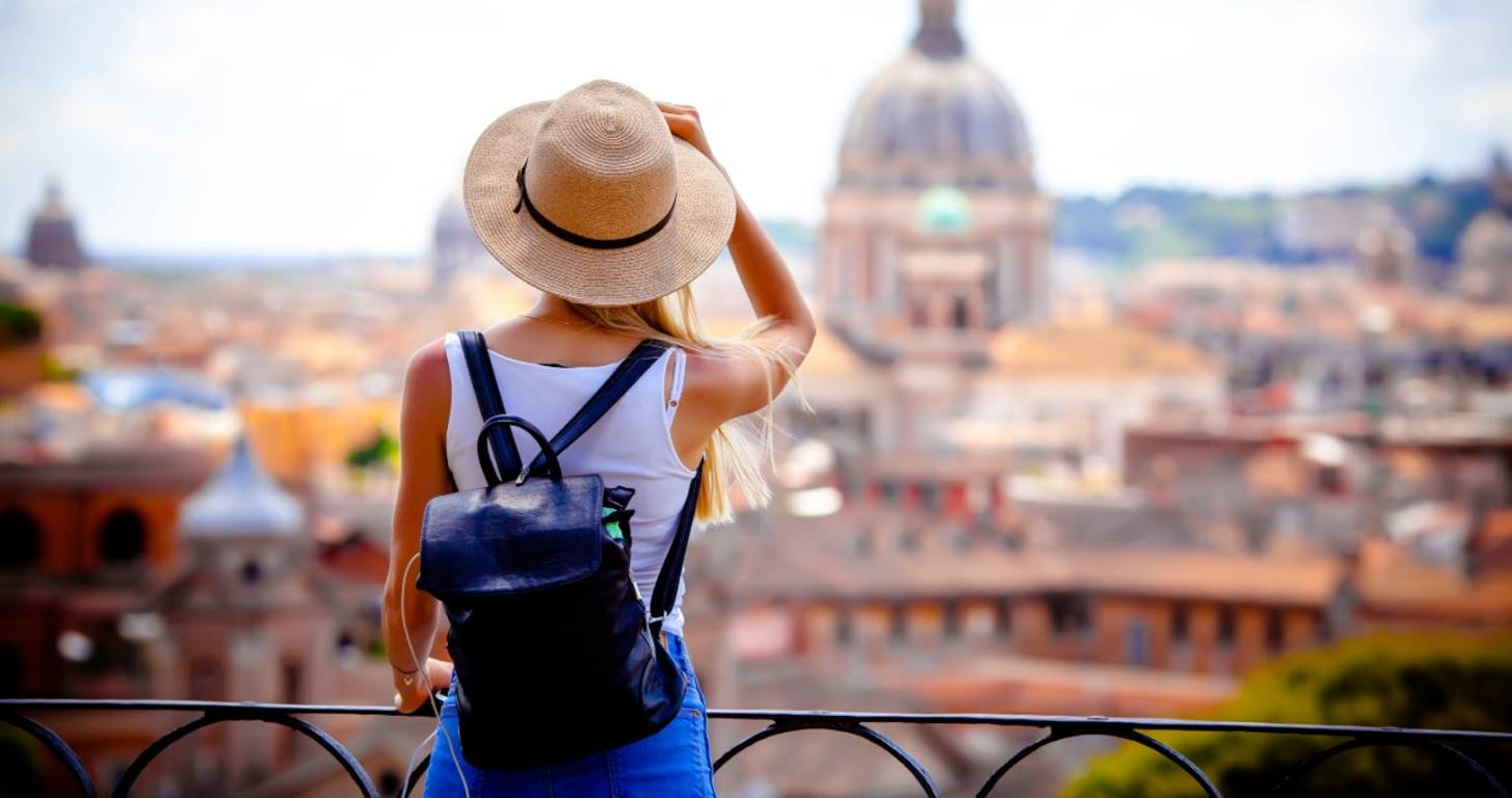 Woman with American Express travel insurance