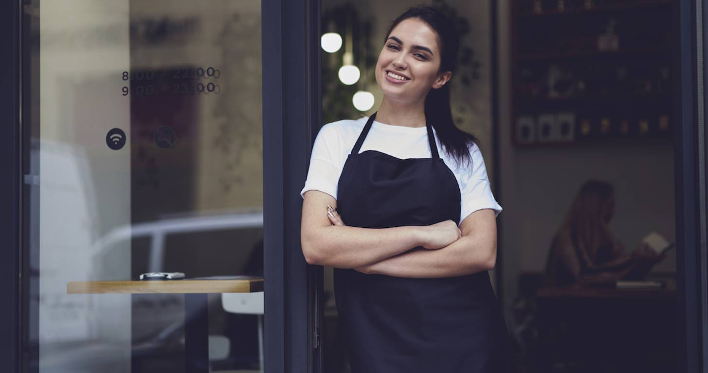 Smiling female business owner