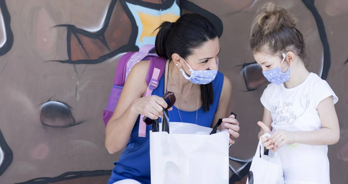 back to school shopping with masks