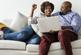 Couple using TurboTax to file their taxes