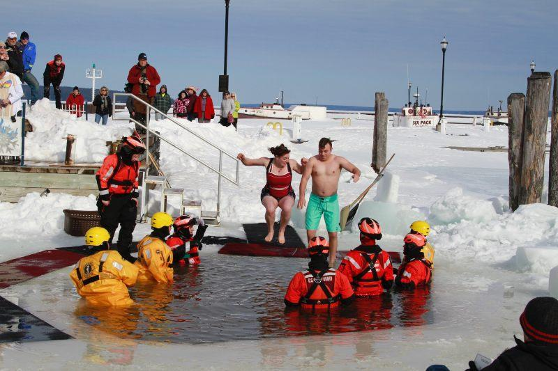 Bayfield Winter Festival Polar Plunge