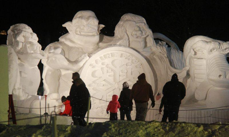 St. Paul Winter Carnival Ice Sculpture