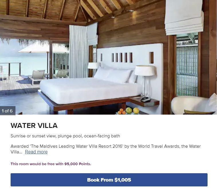Conrad Maldives Rangali Island Water Suite using Hilton Honors points