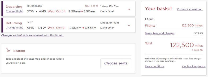 Delta One Suite using Virgin Atlantic miles