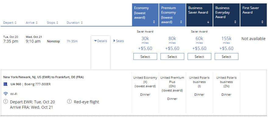United Polaris using Chase Ultimate Rewards