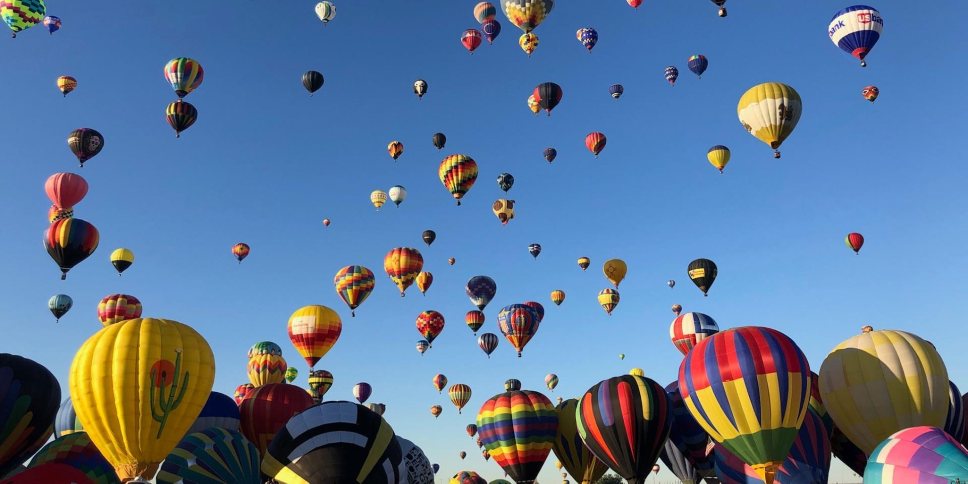 Albuquerque ballon festival zoom background