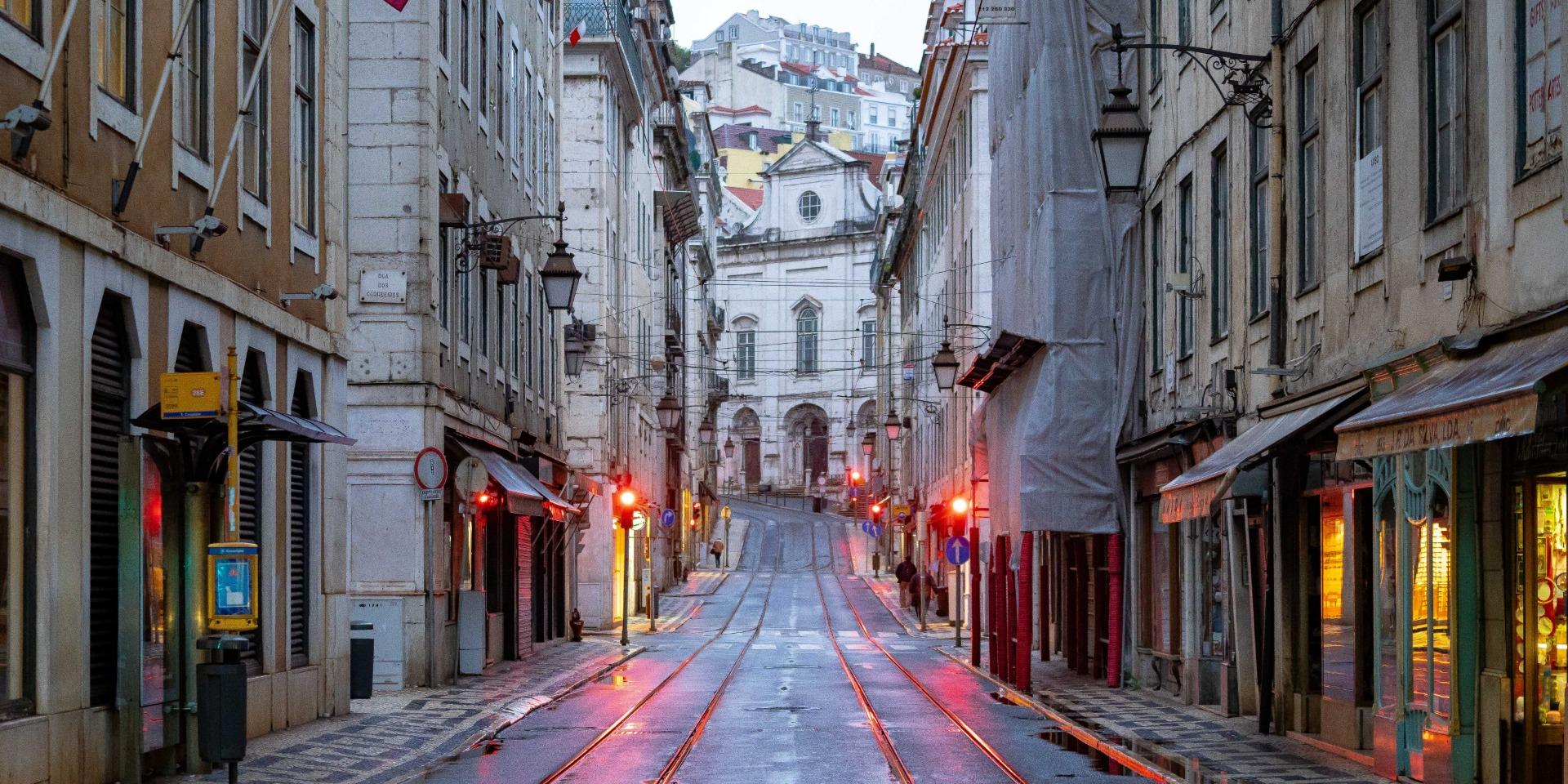 Lisbon Street Zoom Background