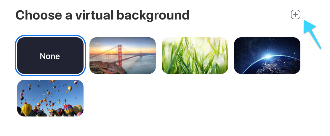 Choose Virtual Background in Zoom