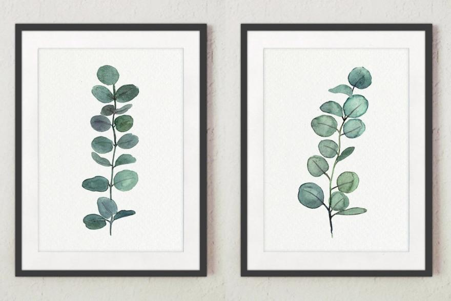 Eucalyptus branch painting from Elfencode