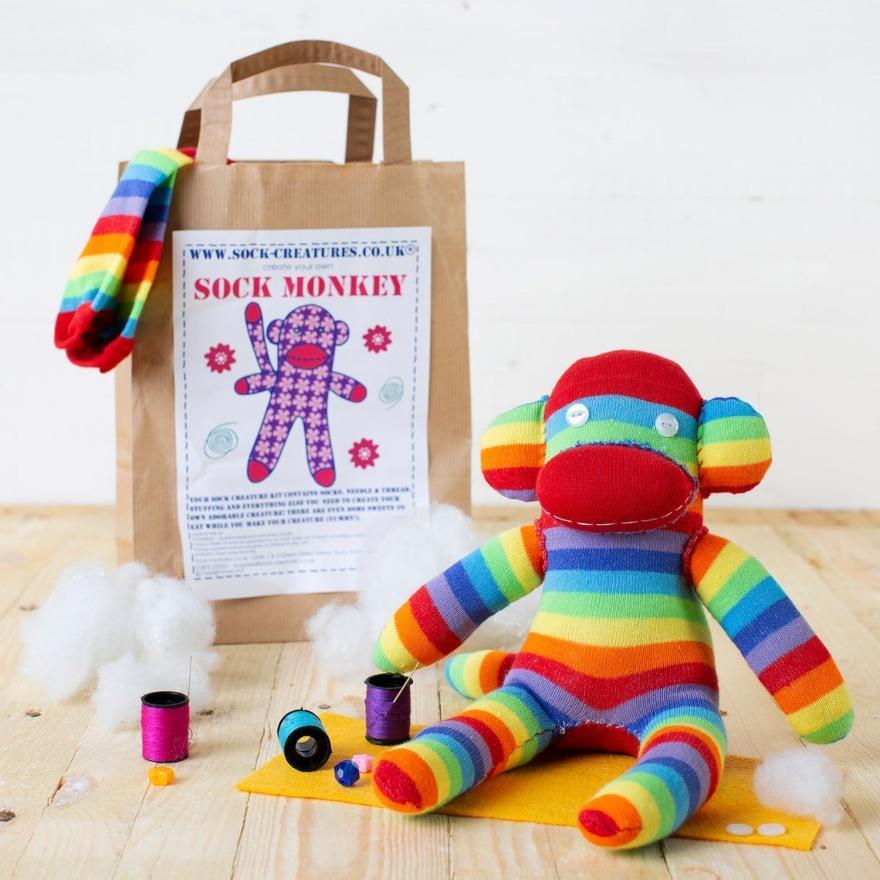 Sock Monkey Craft Kit from SockCreaturesUK