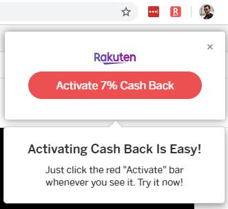 Rakuten Cash Back