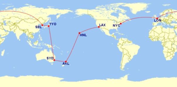 Oneworld Explorer RTW Flight