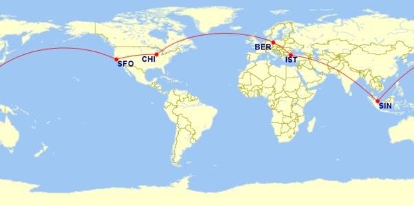 ANA (Star Alliance) RTW Flight