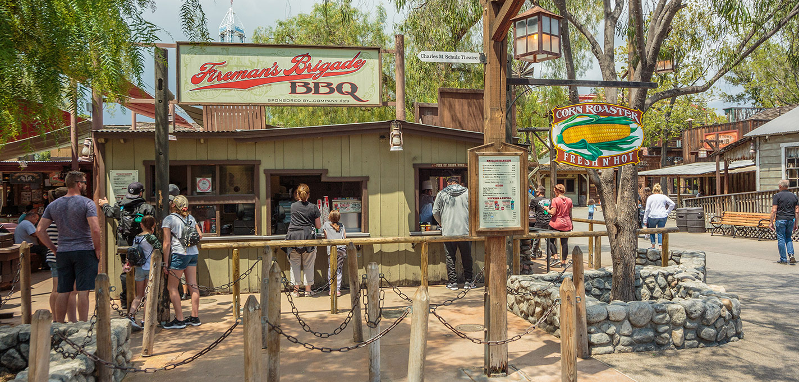 The outside of Fireman's Brigade at Knott's Berry Farm